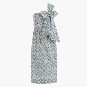 new J.Crew Liberty One Shoulder Tie Bow Dress 2